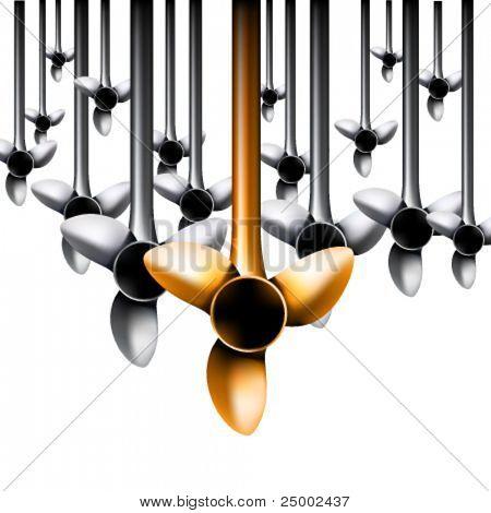 vector turbine illustration