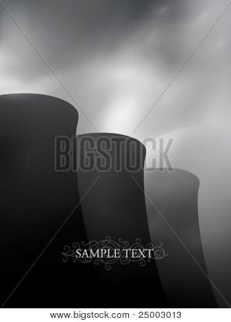 vector factory chimneys