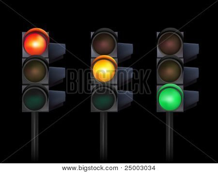 vector traffic lights