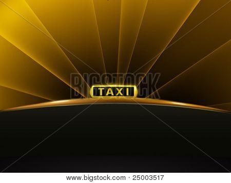 táxi sinal Vector