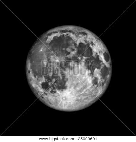 vector moon illustration