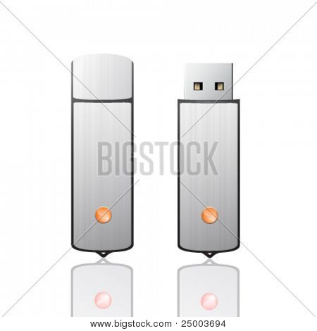 vector usb flash drive illustration