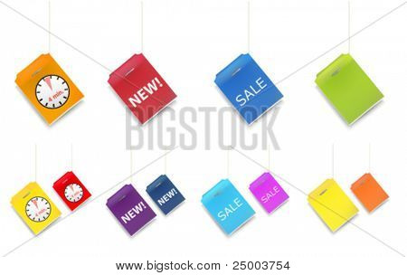 vector tea labels