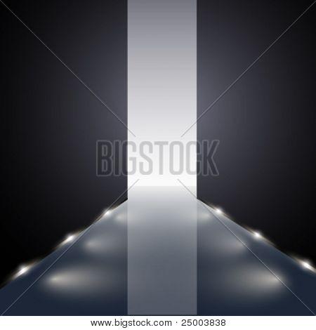 vector runway illustration