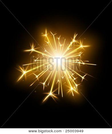vector sparkler illustration