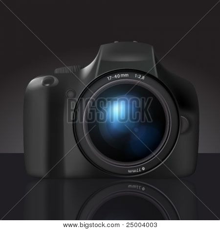 vector dslr camera illustration