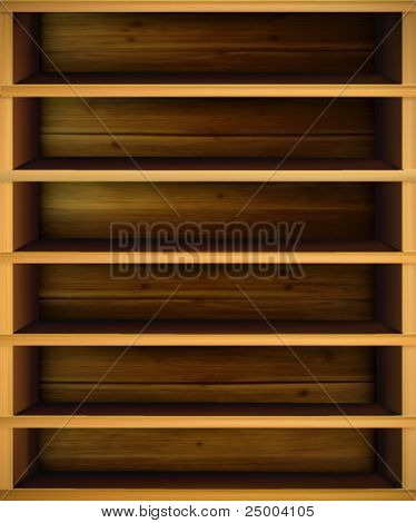vector shelf illustration