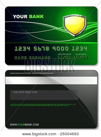 Plantilla de tarjeta de crédito