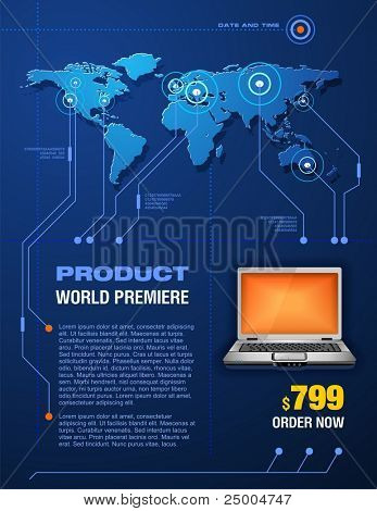 Laptop promotion brochure
