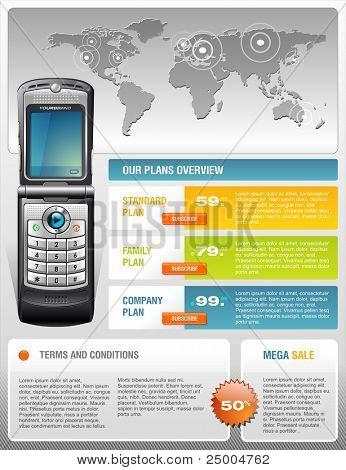 Folleto de servicios de telecomunicaciones
