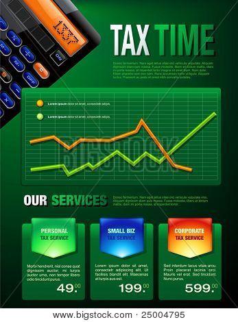Folleto de servicios de impuestos