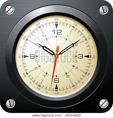 Relógio vintage avião militar