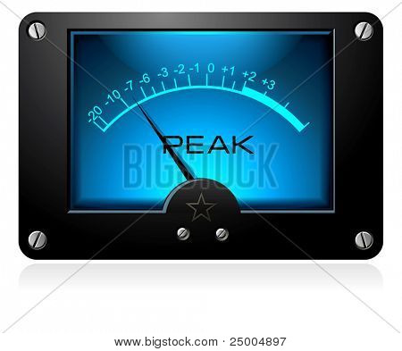 Medidor de sinal analógico eletrônico