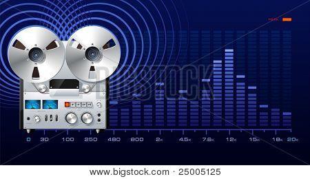 Analog recorder with spectrum analyzer