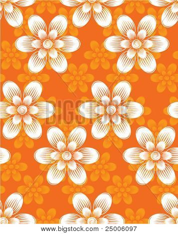 Flowers. Seamless pattern. Vector.