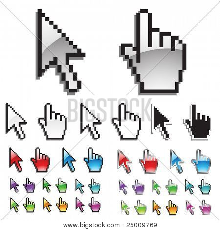 Collection of cursors. Vector.