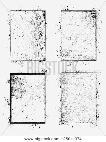 Collection of grunge borders. Vector.