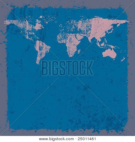 World map background. Vector.