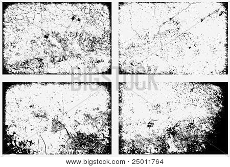 Collection of grunge textures. Vector.