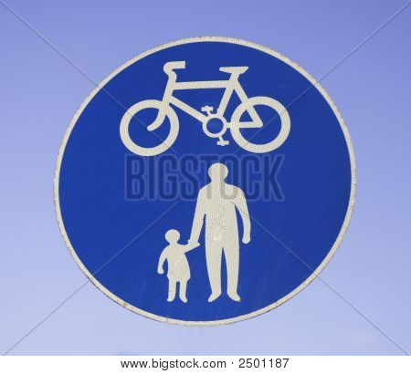 Cyclists And Pedestrians