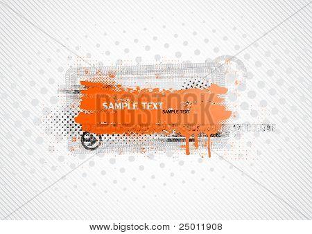 Grunge banner. Vector.