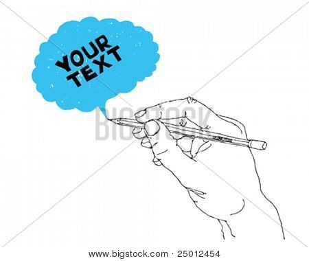 hand drawing speech bubble