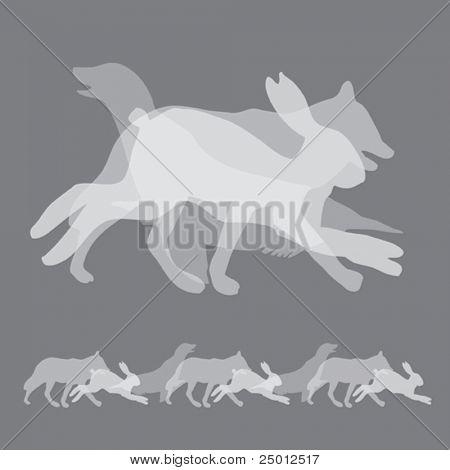 Design Element Made of Three Animals