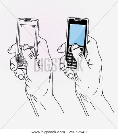 拿手机的手