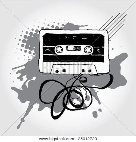 Hand Drawn Audio Cassette