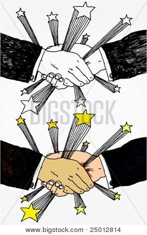 Shaking Hands With Stars Hand Drawn