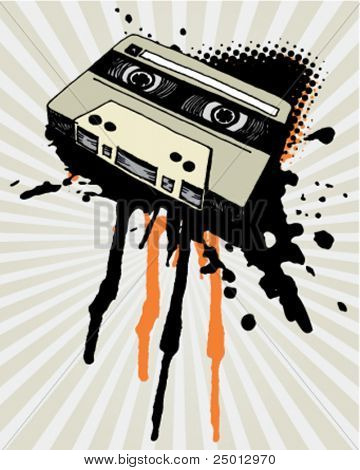 Vintage Tape With Grunge Splash