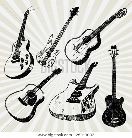 Some Doodled Guitars