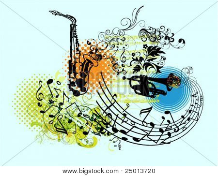 vector set of musical graphic elements