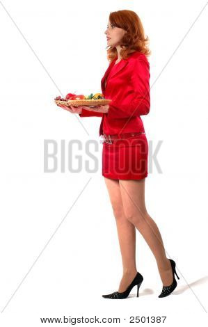 Businesswoman On Dinner