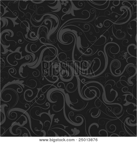floral seamless decoration for emo-style background