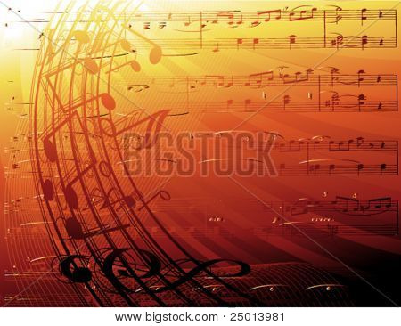 music notes- vector background