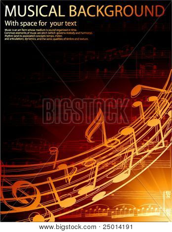 fundo musical vector