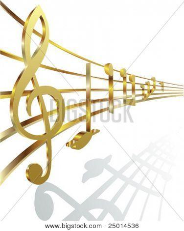golden musical notes