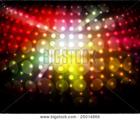 luces brillantes de la noche