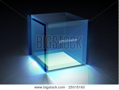 Vector glass - cube illustration