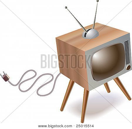 An old tvset unplugged.