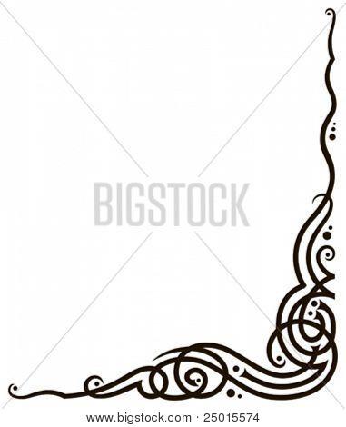 Uma vinheta de canto - ornamento floral de forma de videira.