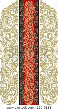 florales Muster im traditionellen russischen Stil.
