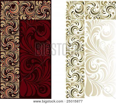 Patrón floral para un marco decorativo. Muestras de la esquina.