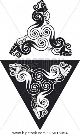 Vector pattern using animal style elements based on the sign of an horse.