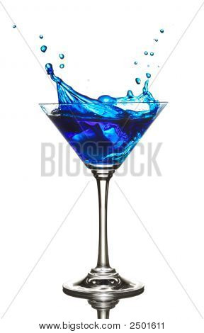Blue Curacao Cocktail Splash