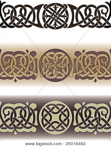 Tattoo Muster in der traditionellen keltischen Stil mit Knoten und Schleifen gemacht. Nahtloser Vektor illustrati