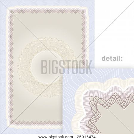 Secured document background. Vector guilloche.