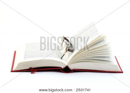Open Book And Spectacles