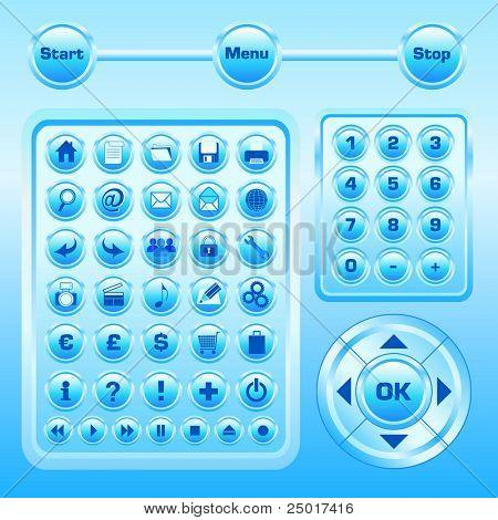 Schaltflächen Sammlungen - 53 Icons - Vektor. (Lesen Sie mein Portfolio für andere Icons-Set)